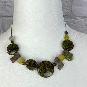 NWOT Set Green Necklace, Earrings and Bracelet